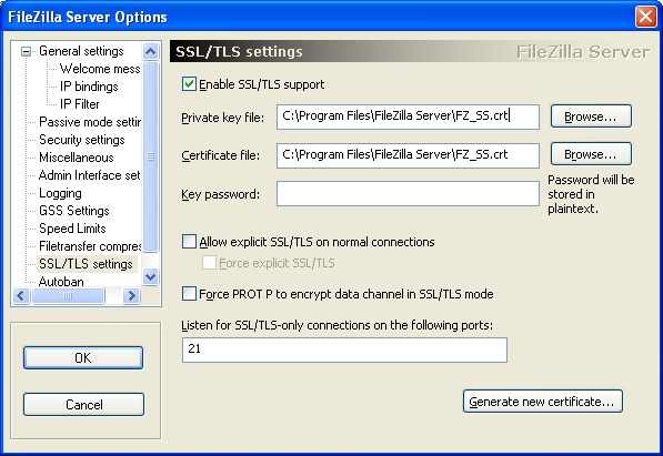 Certificate Installation: FileZilla Server - Powered by Kayako Help ...