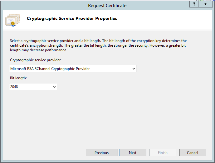 IIS 8 Cryptographic Service Provider Properties