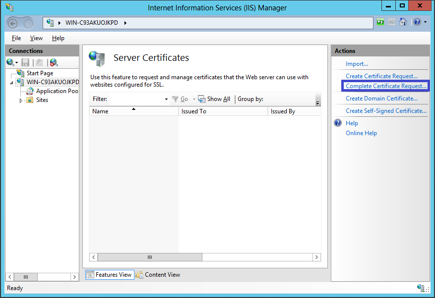 Certificate Installation Microsoft Iis 8x Powered By Kayako Help