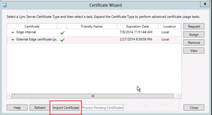 Lync Server 2013 Certificate Installation - Powered by Kayako Help ...