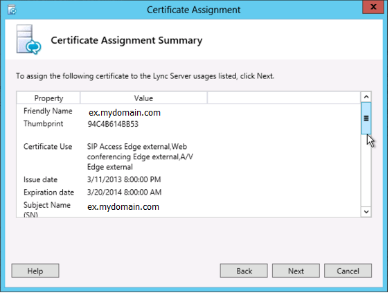 Lync Server 2013 SSL Certificate Installation
