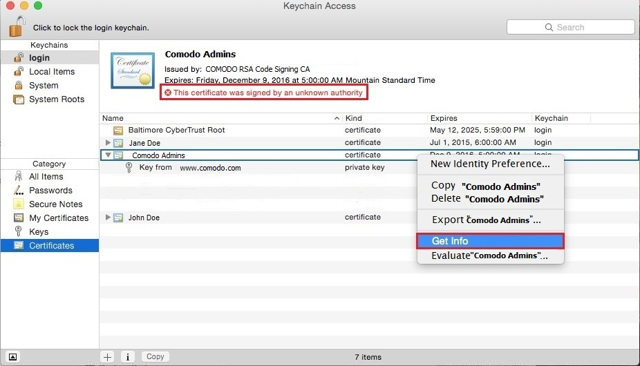 How to Verify Your Code Signing Certificate Is Installed (MAC ...