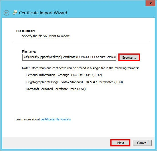 microsoft ecc csr generation and certificate installation powered