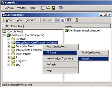 Adding Root and Intermediate certificates via MMC - Powered by