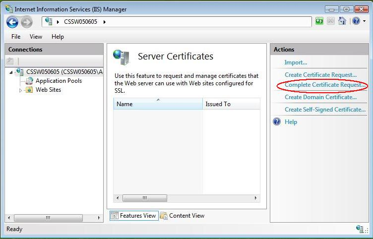 Certificate Installation Microsoft Iis 7x Powered By Kayako Help